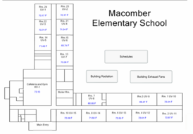 Floor Plan of Macomber Elementary School